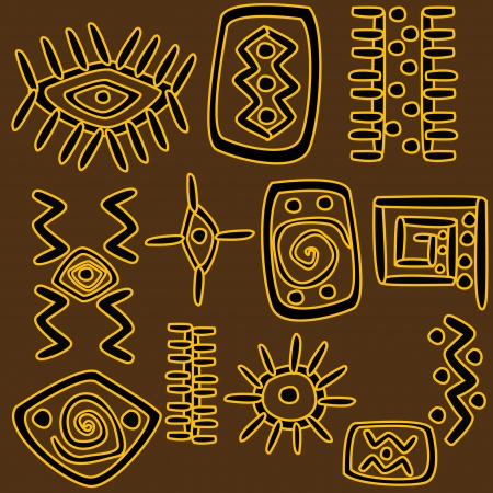 african fabric: African motifs background