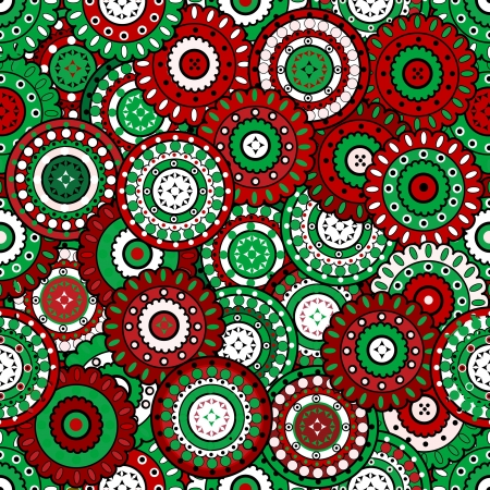 Floral background in Christmas colors Vector