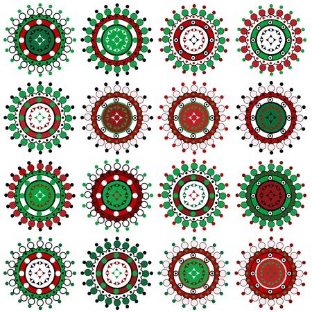 christmas snow globe: Set of Christmas ornaments