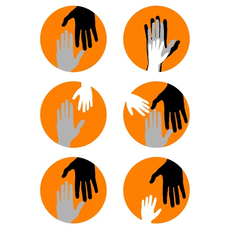 holding hands: Conceptual background with hands