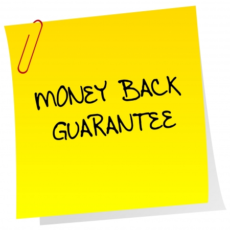 Money back guarantee post it Vector