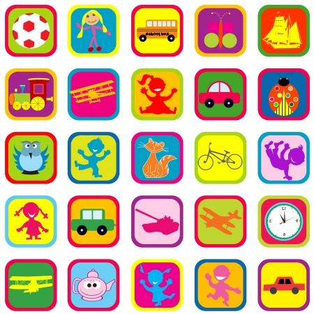 Nahtlose Hintergrund mit Spielzeug für Kinder Vektorgrafik