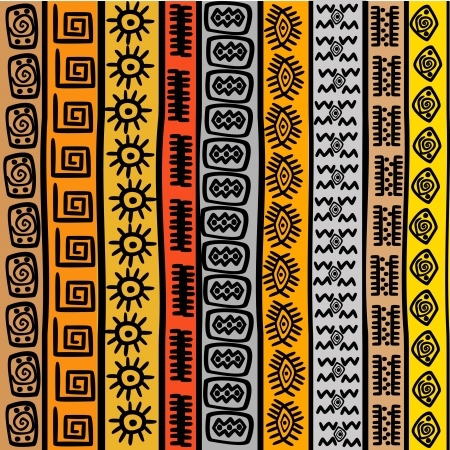 african culture: Seamless pattern with ethnic African motifs