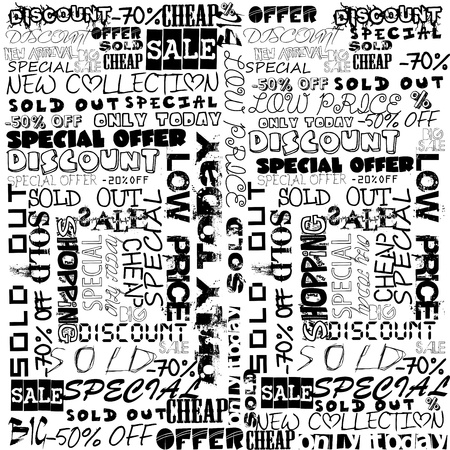 Background typography with sale terms Stock Vector - 16788327