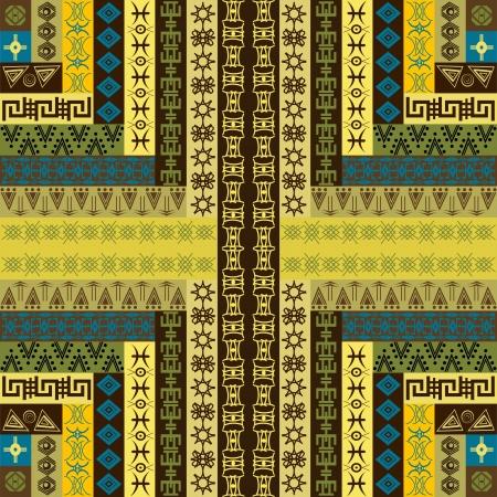 motifs: Canvas with ethnic motifs Illustration