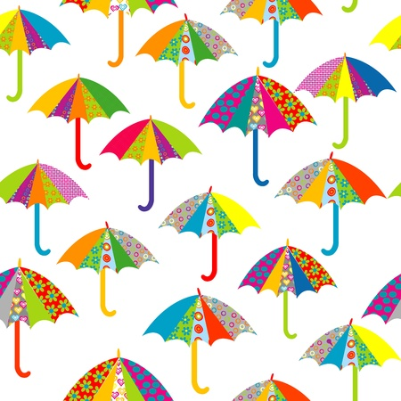 parasol: Seamless pattern with umbrellas