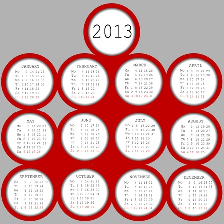 julie: 2013 red circles calendar