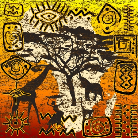 motifs: African symbols set Illustration