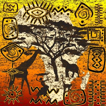 Símbolos africanos establecidos Ilustración de vector