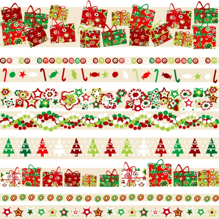 Background with Christmas theme and elements Vector