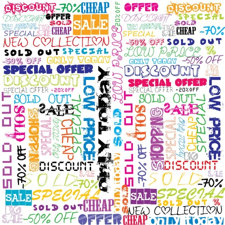 Background with colored sales and sold announcements Stock Vector - 17311054