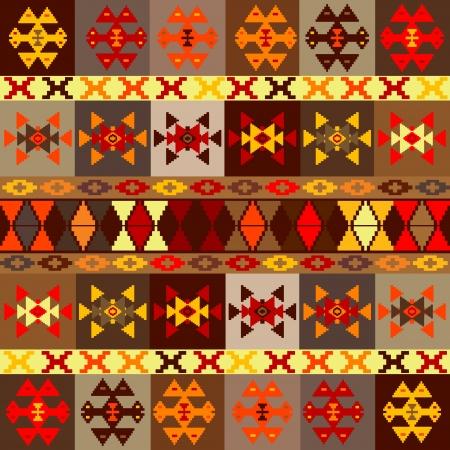 etnic: Etnic motifs background, carpet with folk ornaments