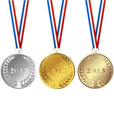 Set of 2013 medals Stock Vector - 17311021