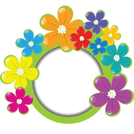 simple frame: Spring floral frame with place for your text