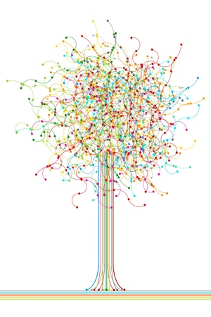 Colored abstract network tree