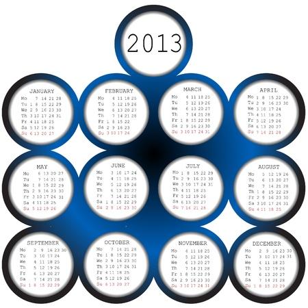 2013 Calendar Stock Vector - 19320315