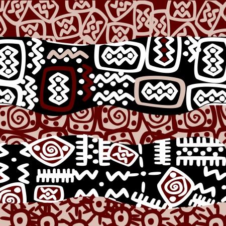 Etnische gestileerde motieven, achtergrond patroon Stock Illustratie