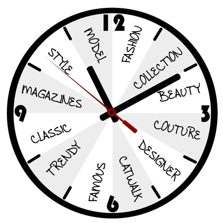 Fashion concept with clock Stock Vector - 19320292