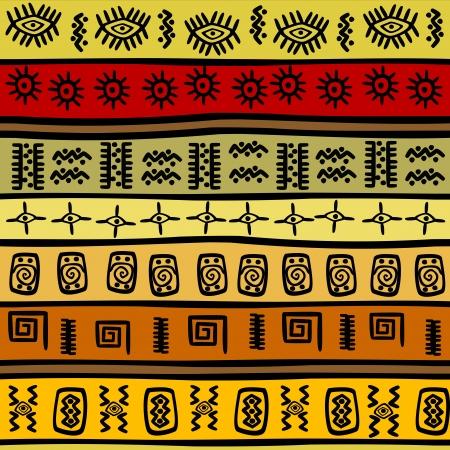 sem costura: Mão-afogue o teste padrão étnico africano, fundo tribal