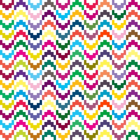 Colored seamless pattern in geometrical shapes Vector