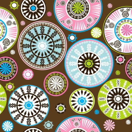 Oriental colored and floral pattern Stock Vector - 21043505