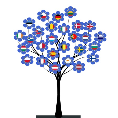 European Union tree Vector