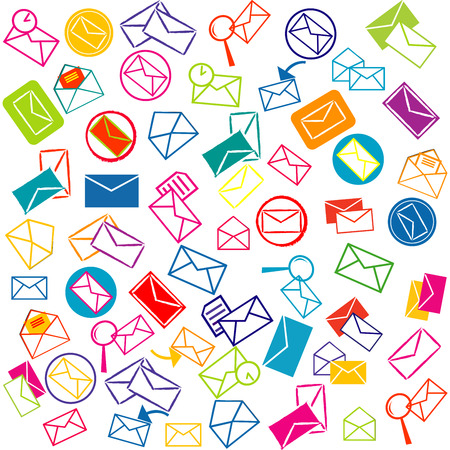 mail box: Background with mail envelopes Illustration