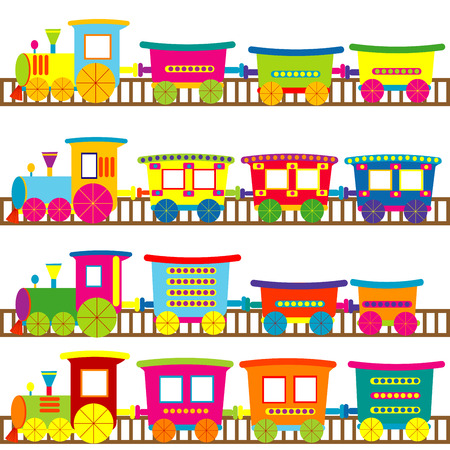 Cartoon trains Vector