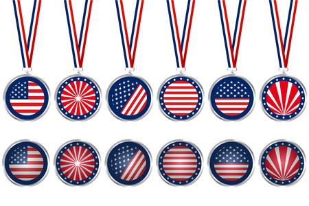 USA medals and buttons Vector