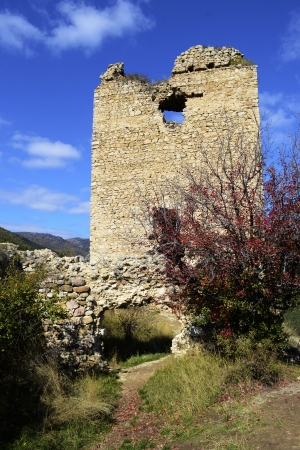 13th century: Image of Coltesti fortress tower, built in the 13th century in Transylvania Stock Photo