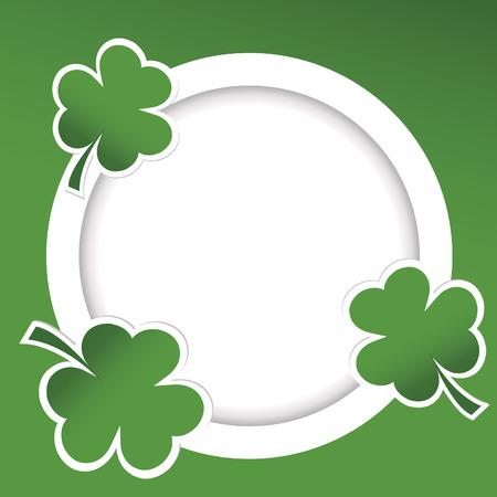 Shamrock illustration card for St. Patricks Day Stock Photo