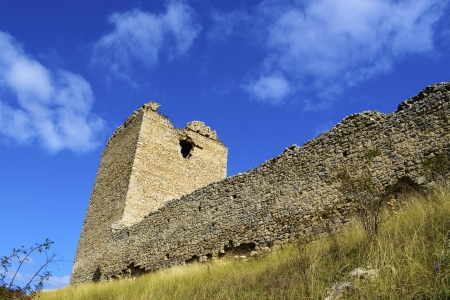 Tower of Coltesti fortress built in the 13th century in Transylvania photo