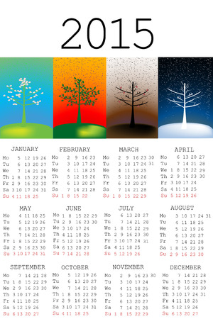 2015 calendar with seasons photo