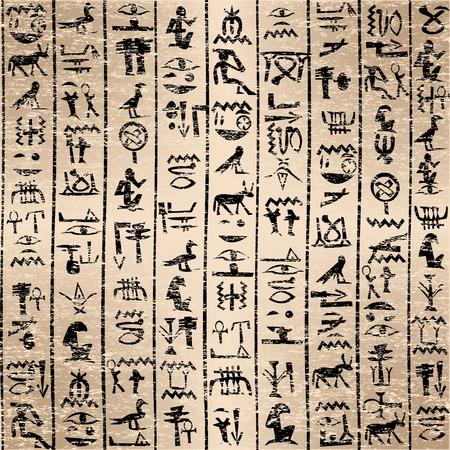 Egyptian hieroglyphics grunge background Illustration