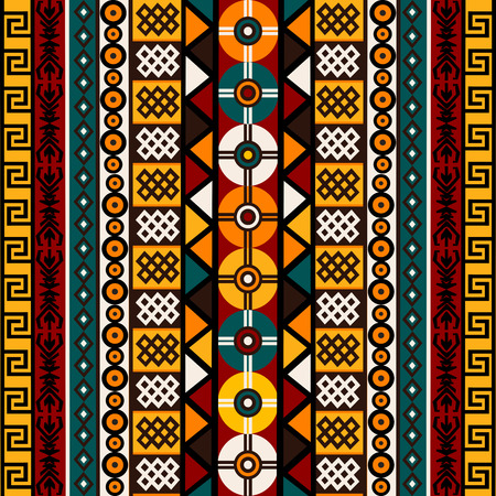 Ethnic background with tribal motifs