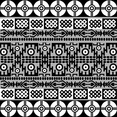 Ethnic motifs in black and white photo
