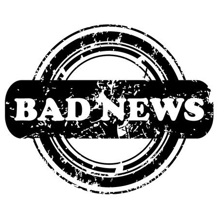 bad news: Bad news stamp