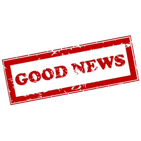 genuine good: Good news red stamp