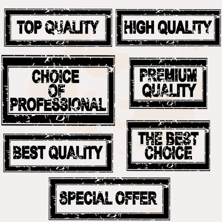 proffesional: Premium quality rubber stamps set