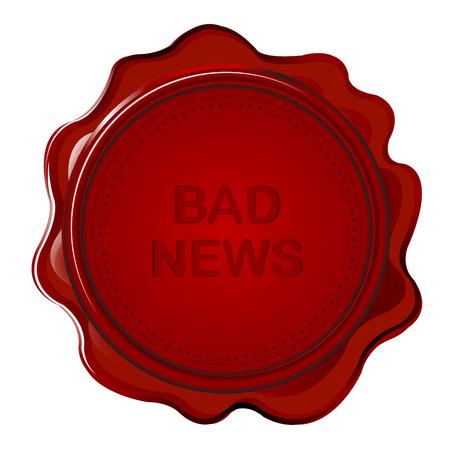 bad news: Wax seal with bad news Illustration