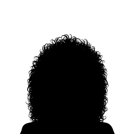 hair back: Woman with curly hair
