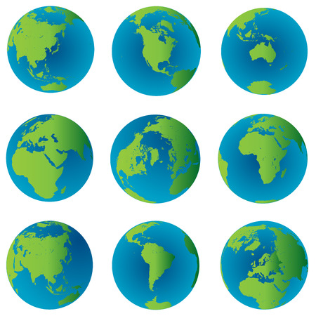 Globes terrestres mis en