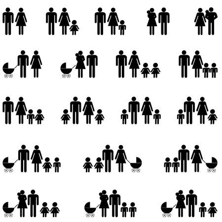 Family icons Vettoriali