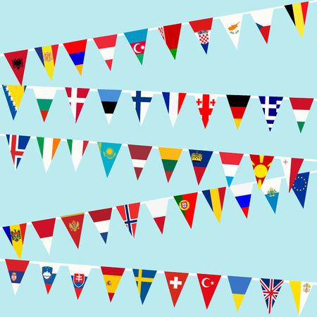 banderas del mundo: Bunting banderas de la Unión Europea