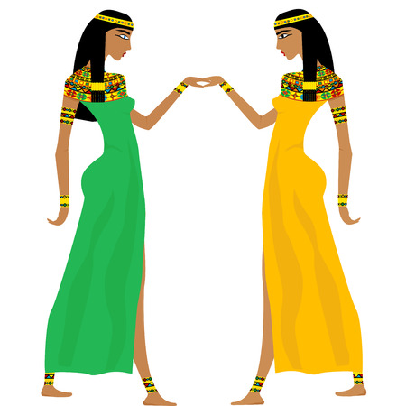 Ancient Egyptian women dancing
