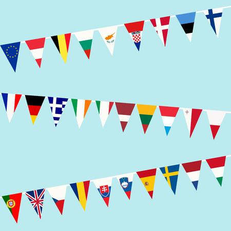 Bruant des drapeaux de l'Union européenne Banque d'images - 31869052