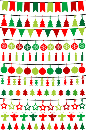 Christmas buntings and garlands Vector