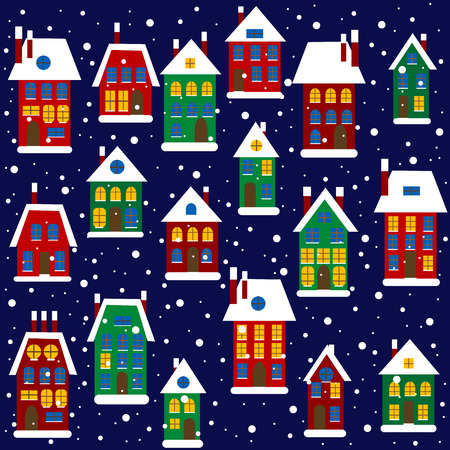 comfy: Christmas background with houses