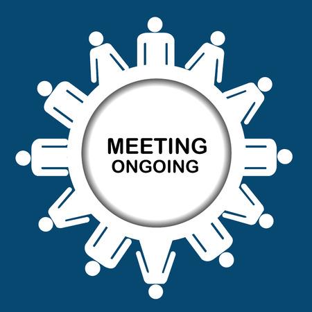 outgoing: Meeting outgoing icon