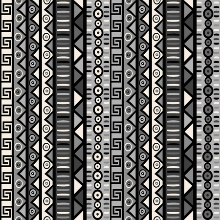 african tribe: Seamless pattern with tribal ornaments for wrapping paper, textile, packaging